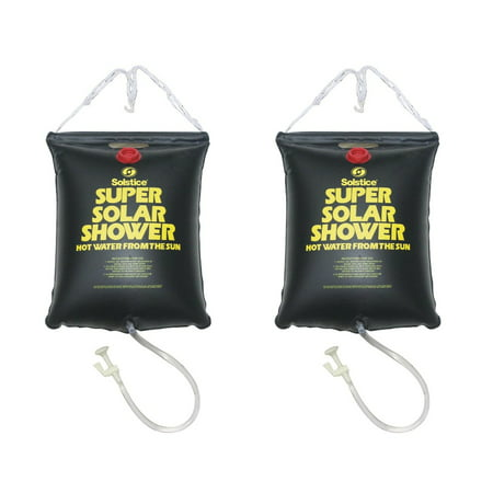 2) NEW 5 Gallon Super Solar Sun Backpacking Camping Outdoor Showers Heats