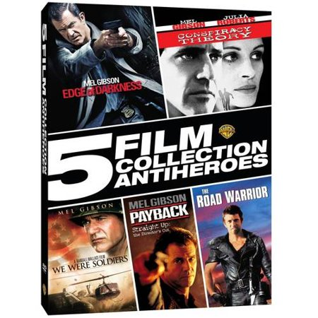 5 Film Collection  Antiheroes   Edge Of Darkness   Conspiracy Theory   We Were Soldiers   Payback   The Road Warrior