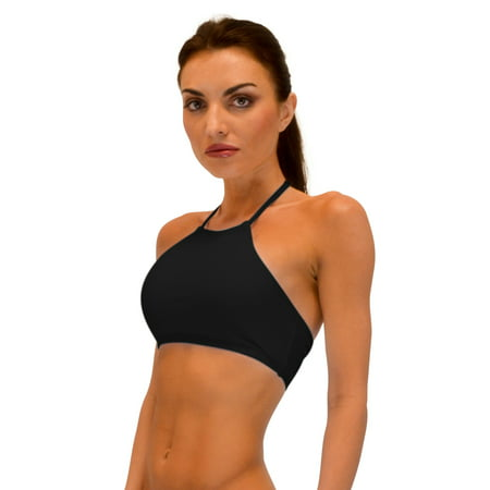VF-Sport - Bikini Top, High Neckline Halter (Black,