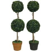 Entrada EN112034 Double Ball Topiary In Pot