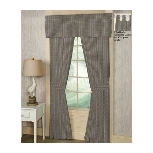 Patch Magic Plaid Cotton Rod Pocket Window Curtain Panels (Set of 2)