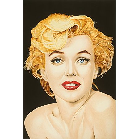 Canvas Marilyn By Karl Black 18X12 Giclee Edition Art Gallery Wrap Wall Decor Marilyn Monroe Poster Natural Beauty Red Lipstick Sexy Some Like It Hot