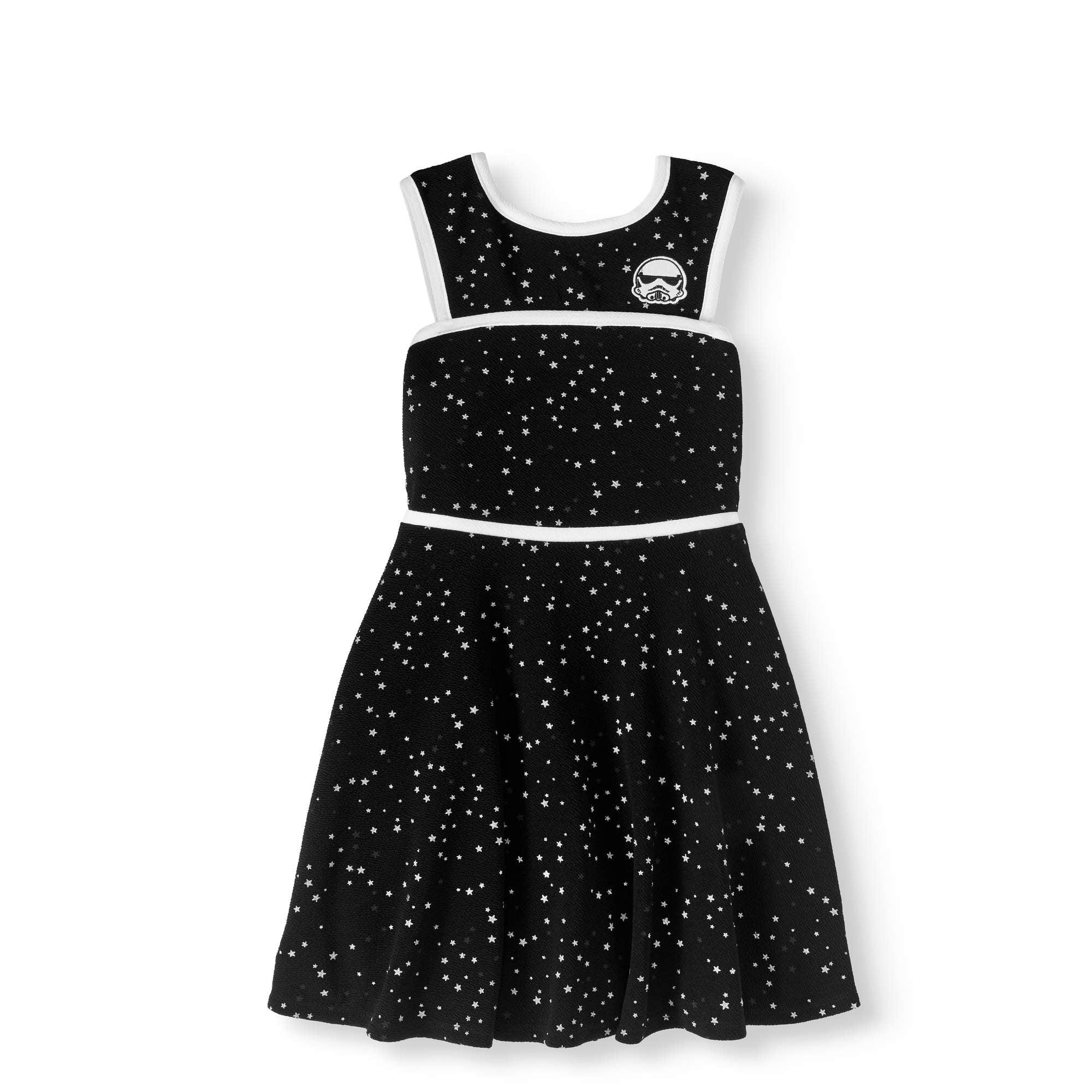 Girls' 7-16 Star Trooper Textured Jacquard Skater Dress