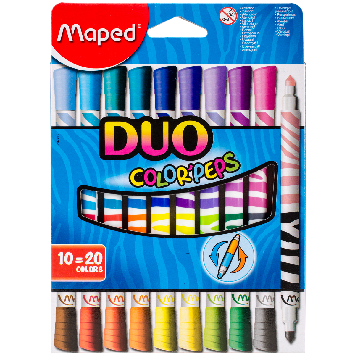 Color'Peps Duo Tip Ultra-Washable Markers-10/Pkg