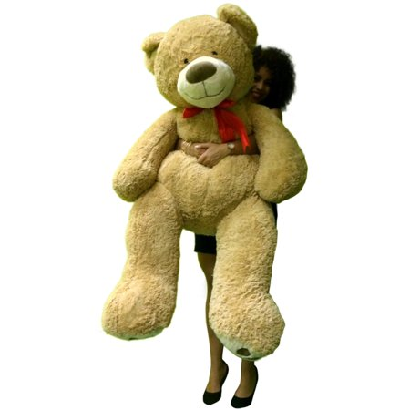 5 Foot Giant Teddy Bear Huge Soft Tan with Bigfoot Paws Giant Stuffed Animal 60 Inch for $<!---->