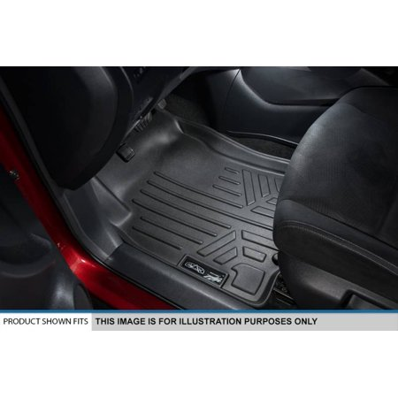 Maxliner 2017 Ford F250 F350 Super Crew Cab Floor Mats For With Front Row Bucket Seats 2 Row Set Black A0246 B0246