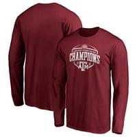 Texas A&M Aggies Fanatics Branded 2019 Texas Bowl Champions Corner Long Sleeve T-Shirt - Maroon