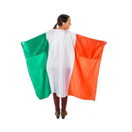 Female Catholic Saints Costumes (Saint Patrick's Day Flag Of Ireland Irish Satin Cape Costume)