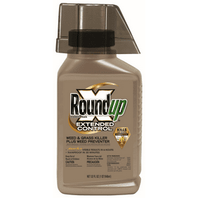 Roundup Concentrate Extended Control Weed and Grass Killer Plus Weed Preventer II, 32 oz.