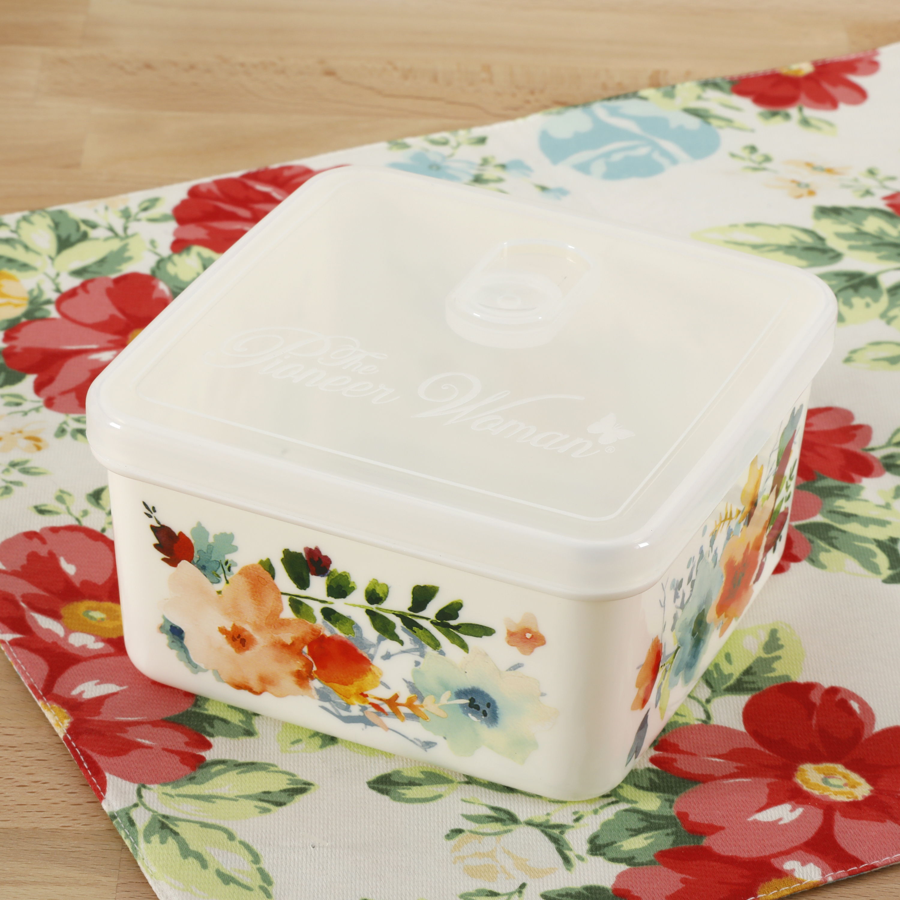 The Pioneer Woman Willow 43oz Square Storage Container Walmartcom