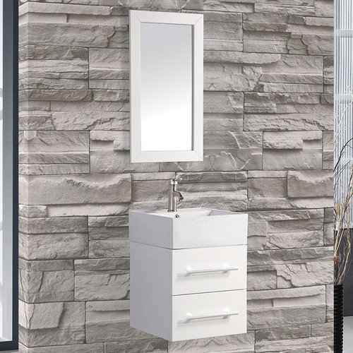 MTD Vanities Nepal 18'' Single Sink Bathroom Vanity Set with Mirror