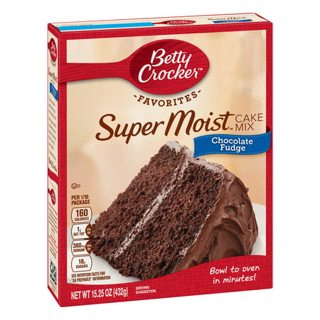 (2 pack) Betty Crocker Super Moist Chocolate Fudge Cake Mix, 15.25 oz - Halloween Chocolate Cupcakes Recipes