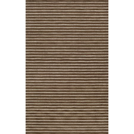 Dalyn Transitions Area Rugs - TR7 Transitional Casual Brown Stripes Lines Rows Rug