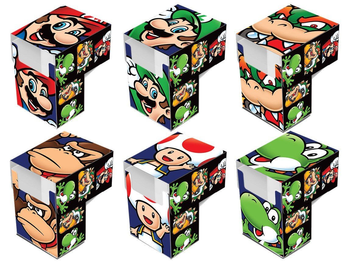 Super Mario Brothers Deck Box Set Of 6 Complete Character Set