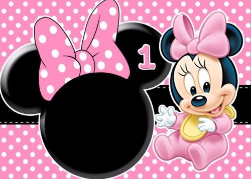 BABY MINNIE MOUSE First Birthday 12 Size Frosting Sheet Cake Topper