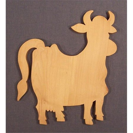 THE PUZZLE-MAN TOYS W-2701 Wooden Household Items - Cutting Board - Cow - Hard Maple - Surface Grain (Best Oil For Wooden Chopping Board)