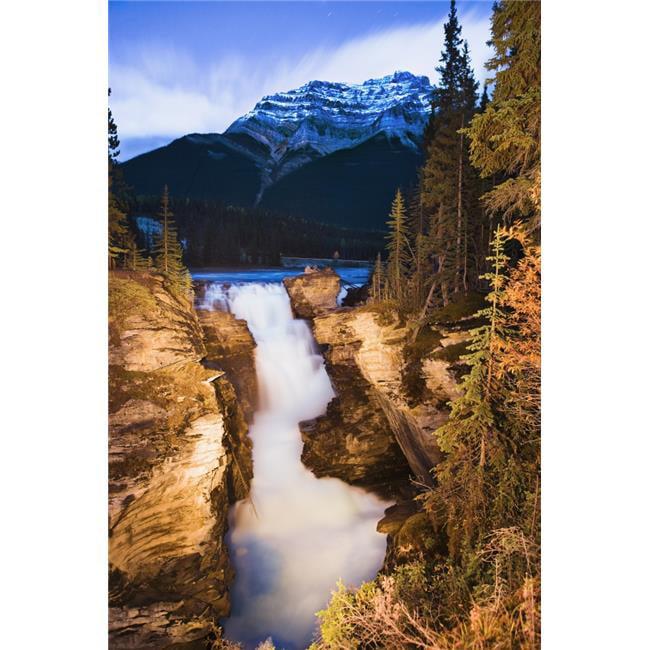 Design Pics DPI2046418LARGE Artists Choice - Athabasca Falls & Mount Kerkeslin At Dusk Jasper National Park Alberta Poster Print, 22 x 34 - Large - image 1 de 1