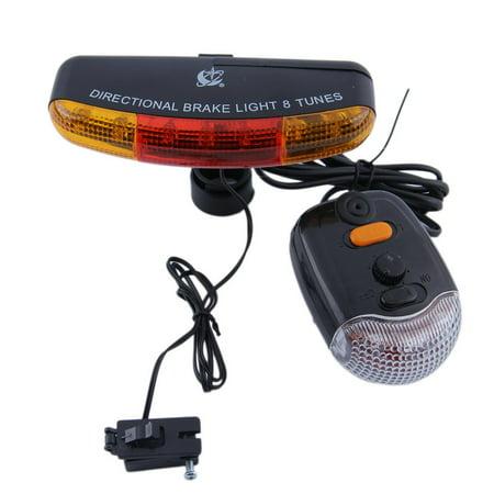 Bike Bicycle Turning Indicator Lamp Brake Signal LED Rear Tail Light Horn AZ