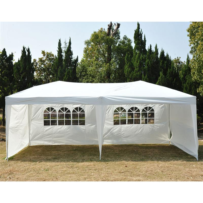 Costway 10u0027x30u0027 Party Wedding Outdoor Patio Tent Canopy Heavy Duty Gazebo  Pavilion Event   Walmart.com