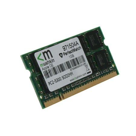 Mushkin Enhanced 971504a 1GB DDR2-667(PC2-5300) Perfect Match Sodimm Memory for Mac/Apple, Green PCB Black