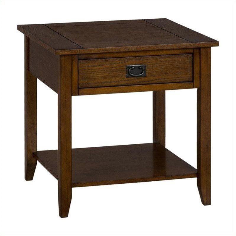 Jofran 1032 Series End Table in Mission Oak by Jofran