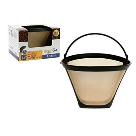GoldTone Reusable #4 Cone Replacment Cuisinart Coffee Filter - Permanent Cuisinart Coffee Filter for Cuisinart Machines and (Best Reusable Coffee Filter)