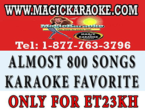 Magic Sing Et23Kh Pop Chips. A Collection Of Almost 800 Songs Of Karaoke Bar Most... by