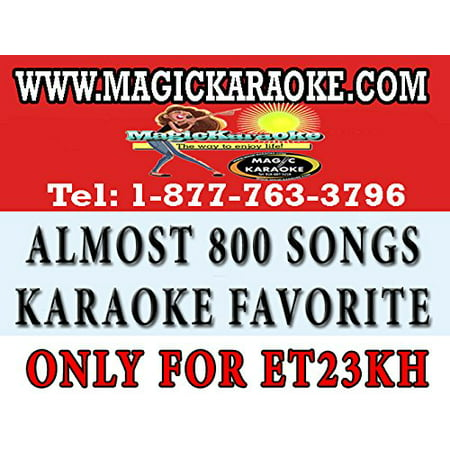 Magic Sing Along Song Chip - Magic Sing Et23Kh Pop Chips. A Collection Of Almost 800 Songs Of Karaoke Bar Most Requested Songs. Only Works With Magicsing Et23Kh