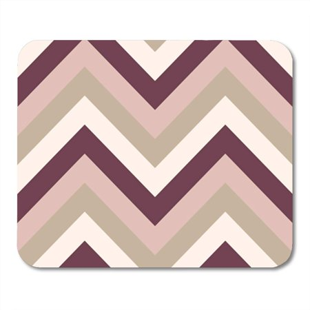 SIDONKU Striped Zigzagging Zigzag Line Stripy Geometric Brown Maroon Beige Mousepad Mouse Pad Mouse Mat 9x10 inch