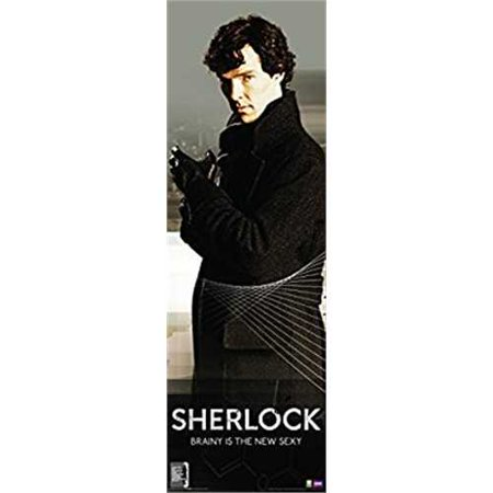 Sherlock Brainy is the New Sexy Quote (Sherlock Holmes) British Crime Drama TV Television Show Poster Print