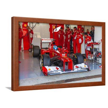 Scuderia Ferrari F1, Fernando Alonso, 2012 Framed Print Wall Art By viledevil (New Ferrari F1)