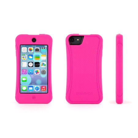 Griffin Survivor Slim Protective iPod touch (5th/ 6th gen.) Silicone Case - Hot Pink - Ipod Touch Protective Case
