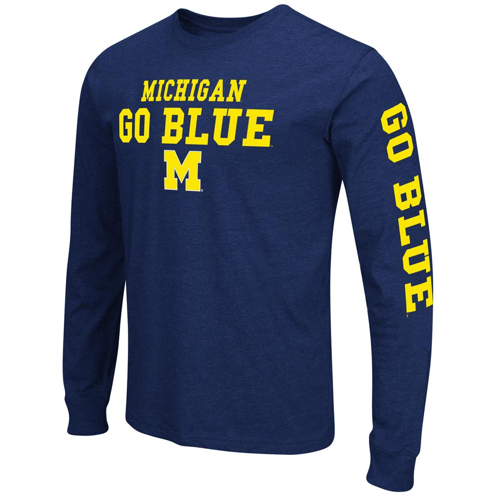 Men's Game Changer University of Michigan Wolverines Long Sleeve Tee