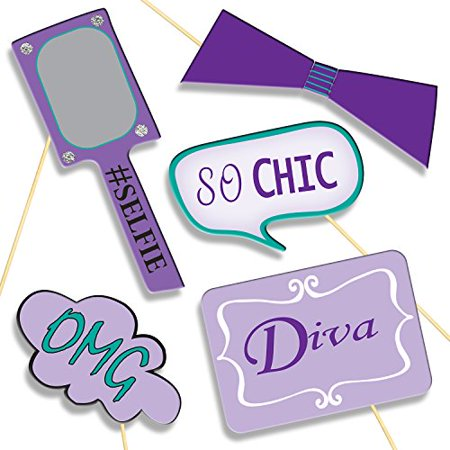 Birthday Girl Photo Booth Props Party Supplies Diy Kit Banners