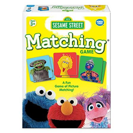 Sesame Street Preschool Matching Game, 1 or More Players, Ages 3+ (Halloween Preschool Activities Games)