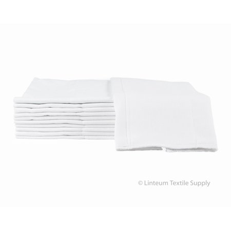Prefold Diaper - Linteum Textile (12-Pack, 14x21 in.) BABY DIAPERS Reusable Washable Birdseye Prefold Burp Cloth 2-Ply