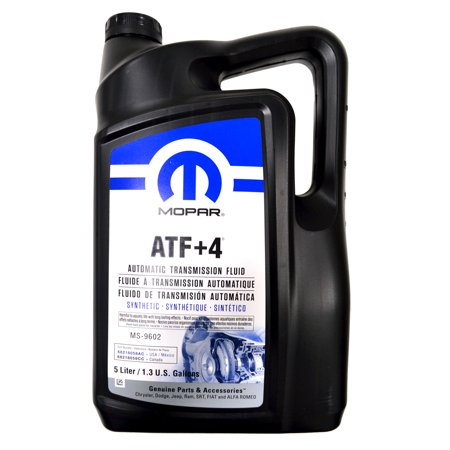 Mopar Automatic Transmission Fluid ATF+4 - 5 Liter (1.3 Gallon)