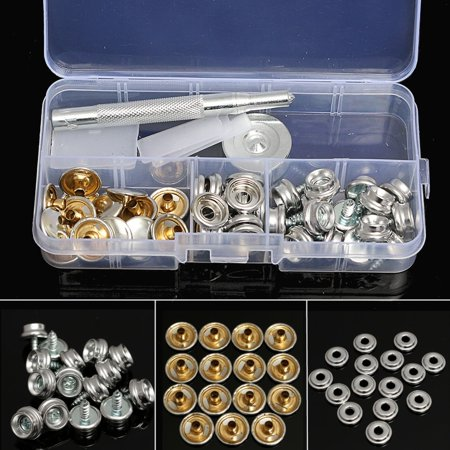 Canvas Marine Cover (47pcs 10mm Stainless Steel Marine Canvas Fabric Snap Boat Cover Button & Socket Kit )