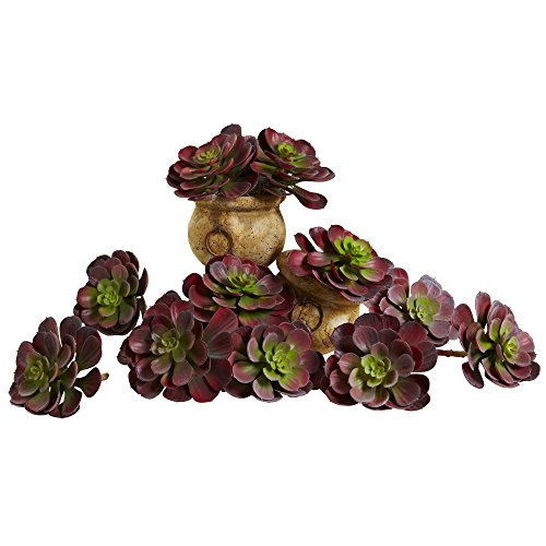 Nearly Natural 6105-BG-S12 Echeveria Succulent, 6-Inch, Burgundy, Set of 12 - image 1 of 1