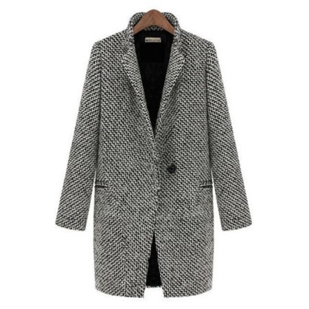 Womens Open Front Winter Women Peacoat Winter Outdoor Wool Blended Classic Coats Jacket Jumper Zipper Cardigan Casual Fashion Fleece Outwear Thick Top Coat Jacket (Open Field Wool)