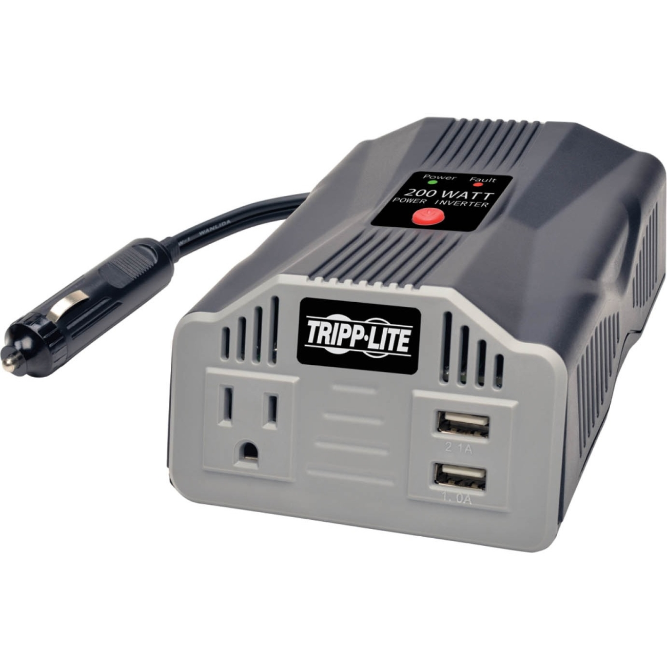 Tripp Lite 200W PowerVerter Ultra-Compact Car Inverter with Outlet and 2 USB Charging