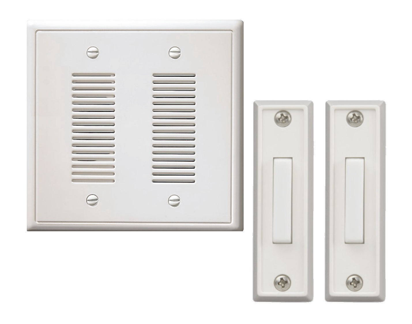 Great NICOR Lighting Two Door Doorbell Chime With Two Lighted Rectangle Buttons  (18888)