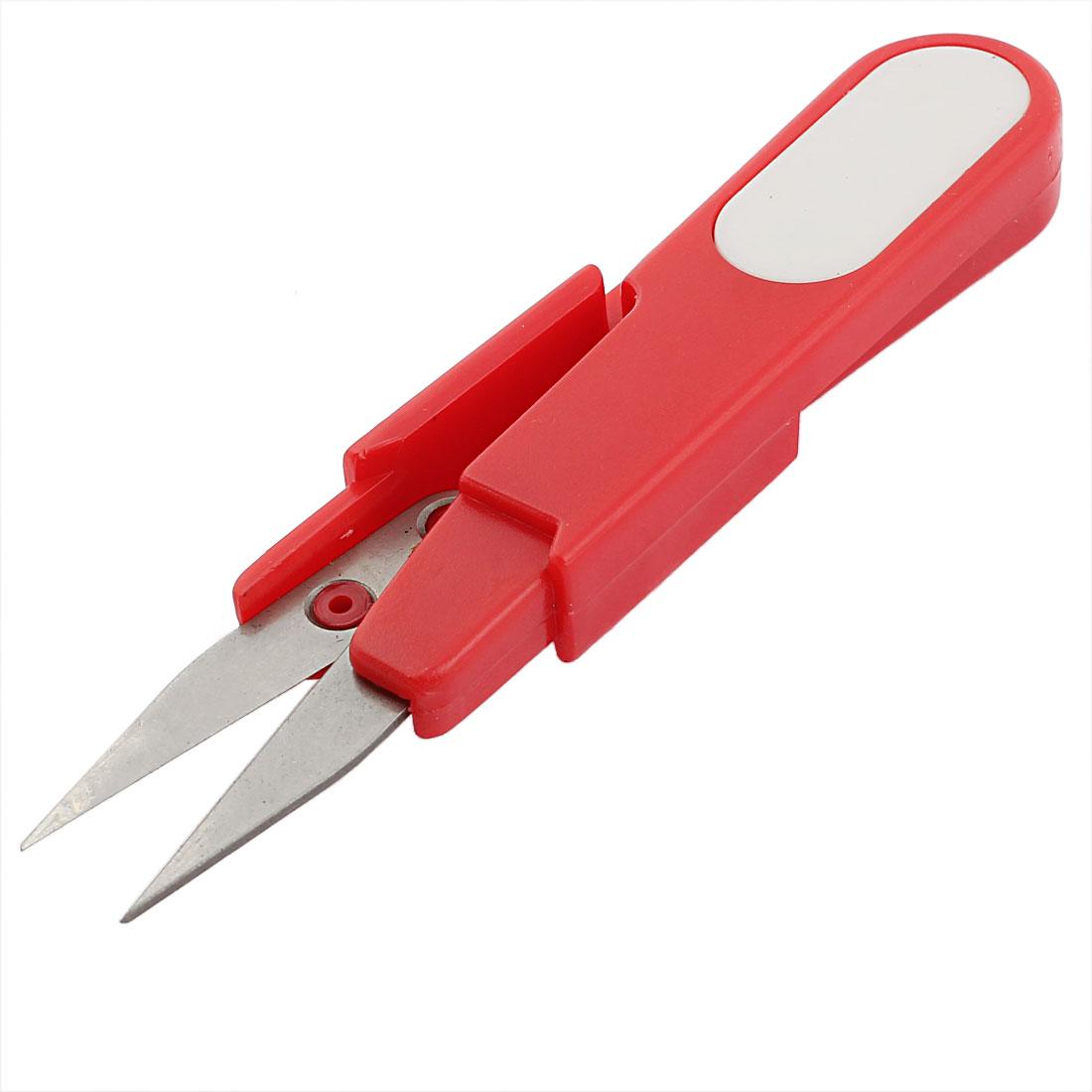 Plastic Handle Fishing Line Cross Stitch Yarn Sewing Thread Scissor Cutter Red