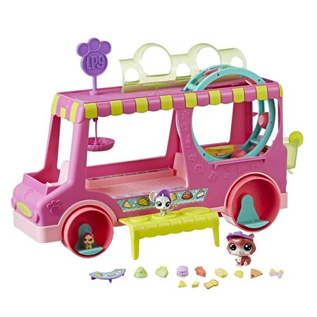 Littlest Pet Shop Tr'eats Truck Toy, Rolling Food Truck Playset