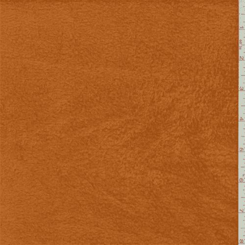 Soft Orange Polyester Fleece, Fabric By the Yard