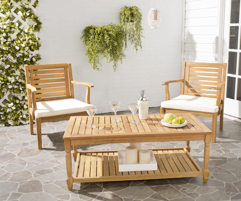 Safavieh Oakley Indoor Outdoor Modern Wood Coffee Table by Safavieh