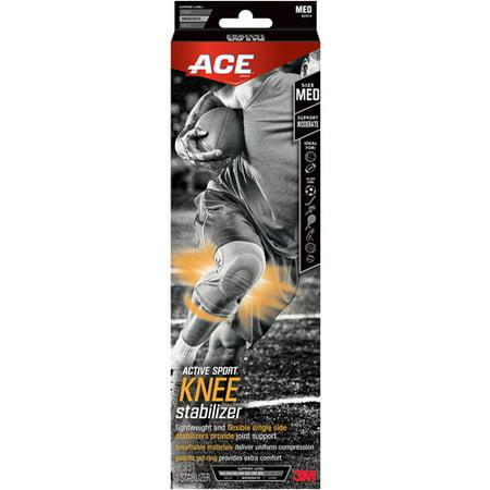 Image of ACE Active Sport Knee Stabilizer, Medium, Black, 1/pack