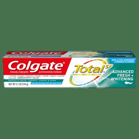 Total Advanced Whitening Gel (Colgate Total Whitening Toothpaste, Advanced Fresh + Whitening Gel, 5.1 oz. )