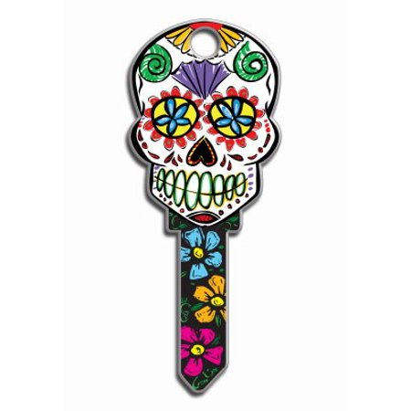 - Decorative House Key Sugar Skull Kwikset.