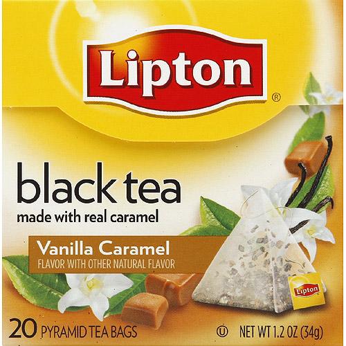 Lipton Vanilla Caramel Truffle Pyramid Tea Bags, 20ct (Pack of 6)